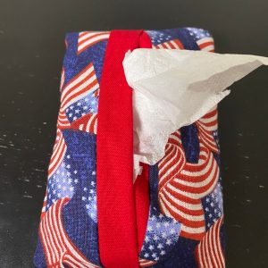 American Flag Pocket Tissue Holder - Show off your patriotism with this pocket tissue holder with American Flags on it. #AmericanFlag