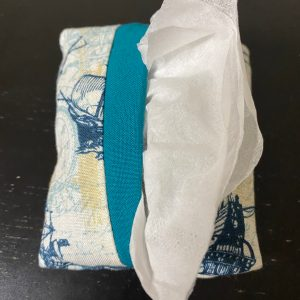 Naval Ship Pocket Tissue Holder - This pocket tissue holder has naval ships on it to hold your tissues.