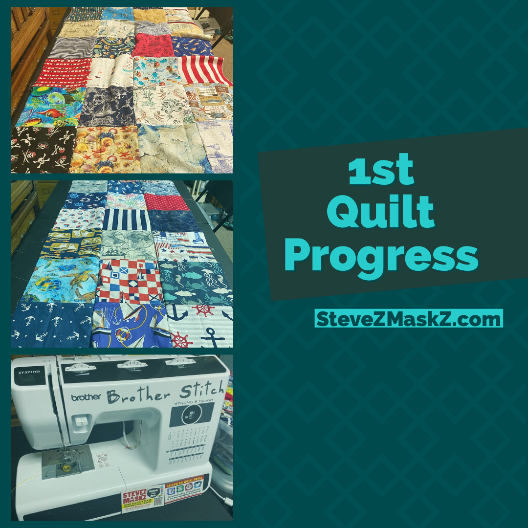Change in direction on my 1st Quilt