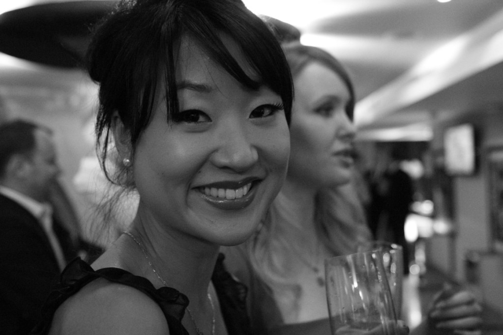 Beautiful Chinese lady at a cocktail party