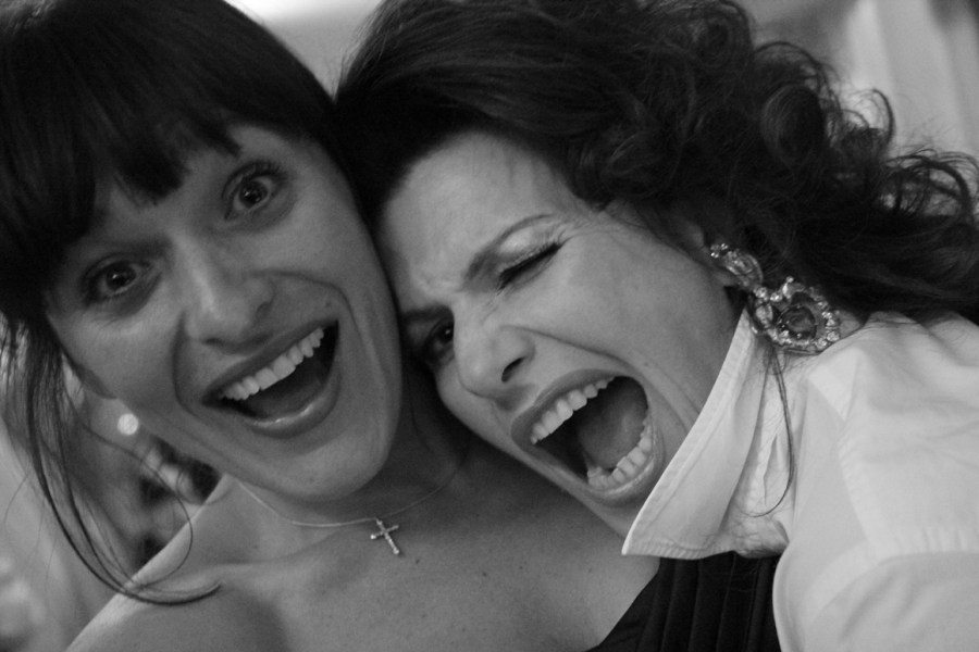 Cleo Rocos and friend laughing