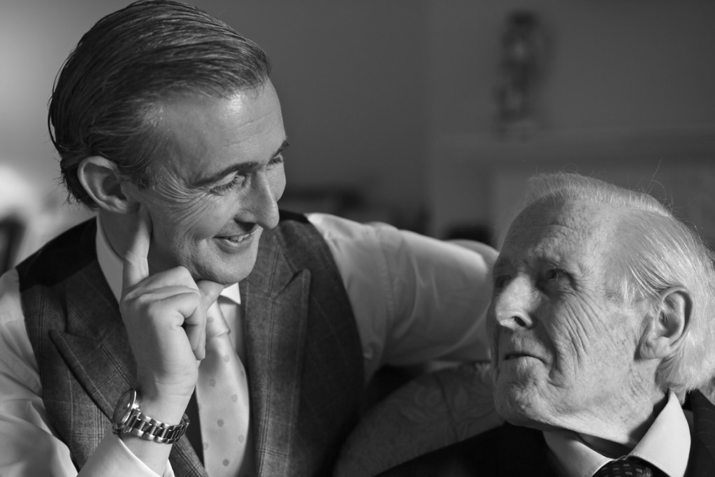 Tim and Ray Gosling, Father and Son, sharing a laugh together.