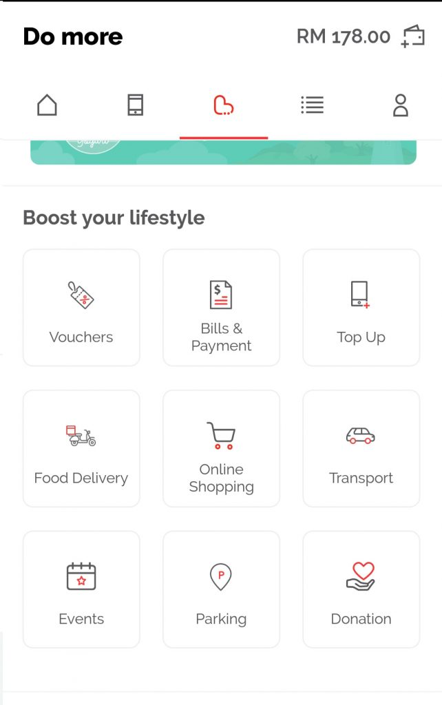 You can use your Boost app to make purchase to these items