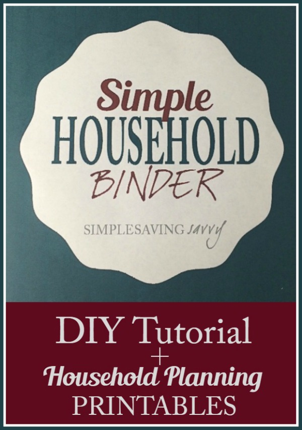 Simple Household Binder plus Household Planning Printables