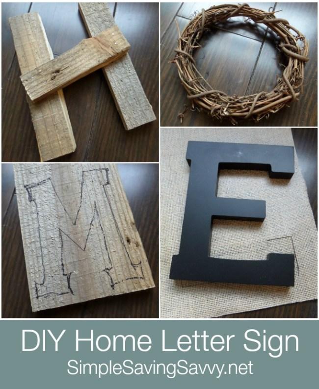 Home Decor letter sign
