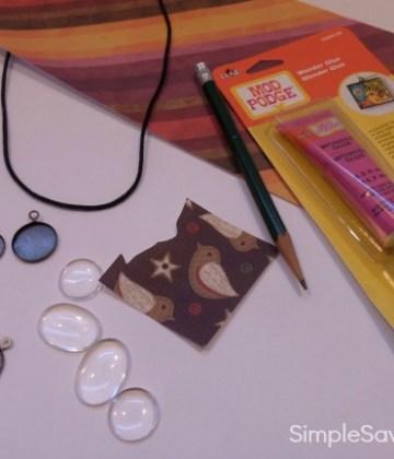 DIY Modern Pendant Necklace