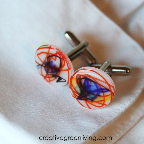 shrinky dinks cuff links father's day gift
