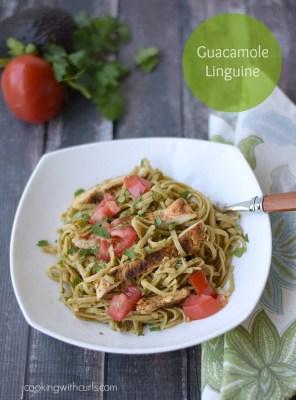 Guacamole-Linguine-cookingwithcurls.com-cleaneatingchallenge