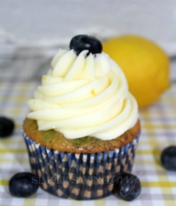 Lemon Blueberry Cupcakes from Scratch
