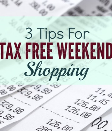 Tips for Tax Free Weekend Shopping