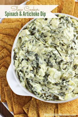 slower cooker spinach and artichoke dip recipe