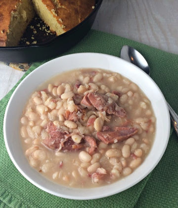 Slow Cooker Ham and Northern Beans