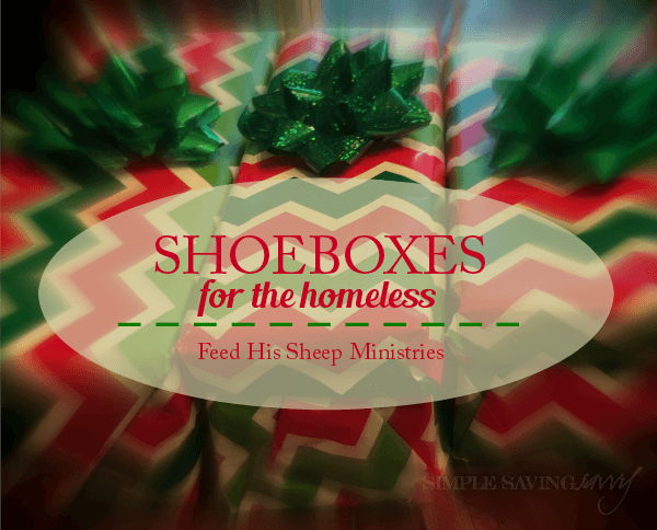 Shoeboxes for the Homeless and Feed His Sheep Ministries