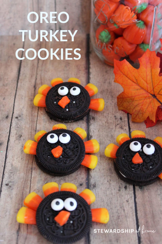Oreo Turkey Cookies