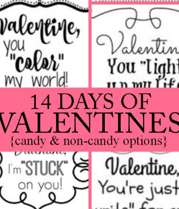 14 Days of Valentines for Anyone | Free Printable Tags