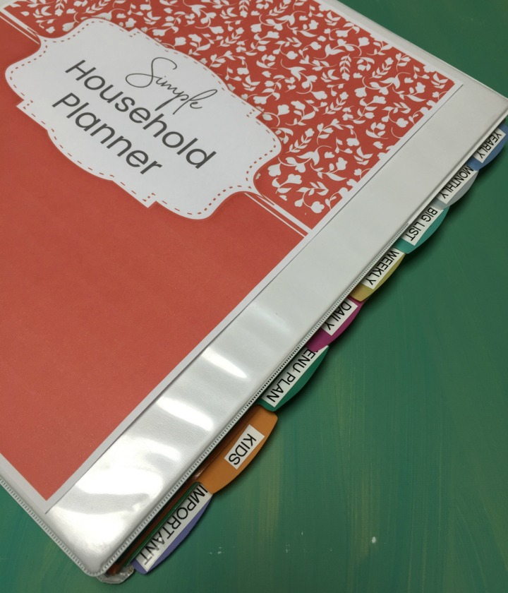 simple household planner dividers