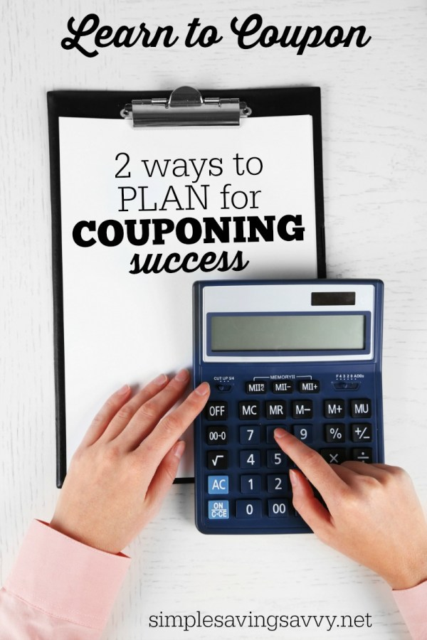 Plan for Couponing Success from Simple Saving Savvy