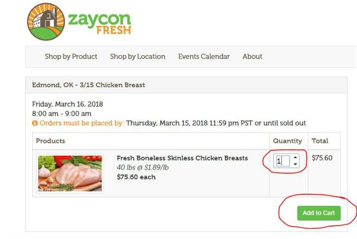 order zaycon fresh products