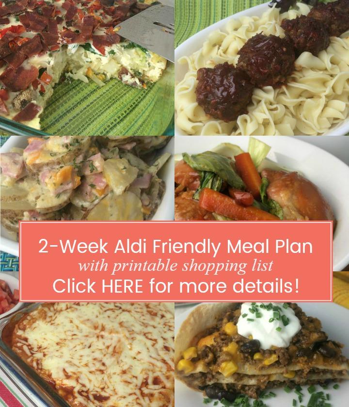 Download Your 2 Week Aldi Meal Plan | Stewardship at Home