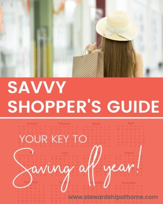 Savvy Shopper's Guide - Your Key to Savings All Year