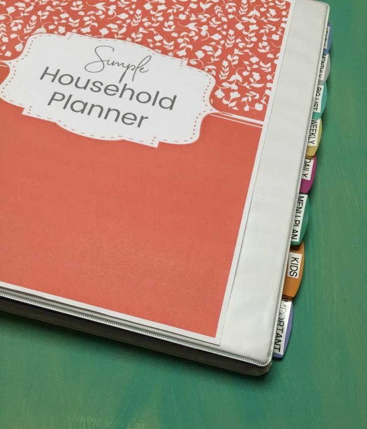 diy simple household planner