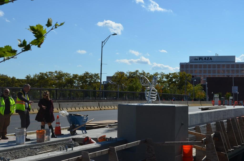 Photos Mayor Stewart Checks out Progress on Beehive