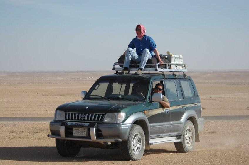 Stewart Innes Syrian Dom Joly filming Toyota Prado