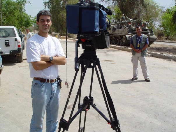 Stewart Innes Baghdad with Univision