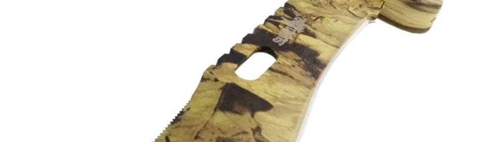 Camouflage hunting knives