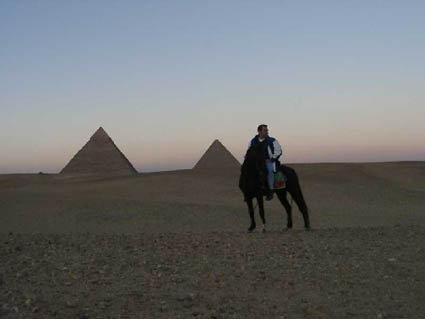 Stewart Innes Egypt pyramids horse riding