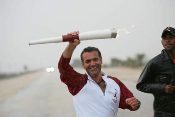 Stewart Innes Qatar Olympic torch