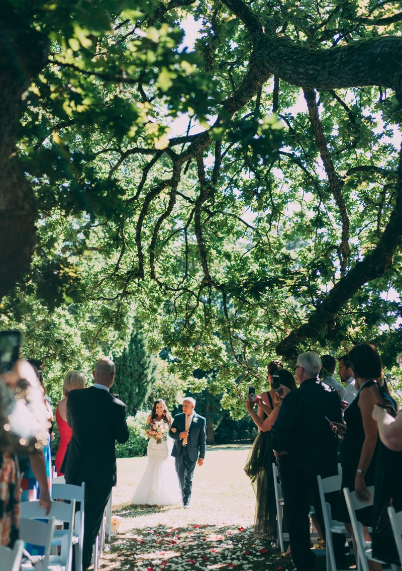 wedding aisle coombe yarra valley