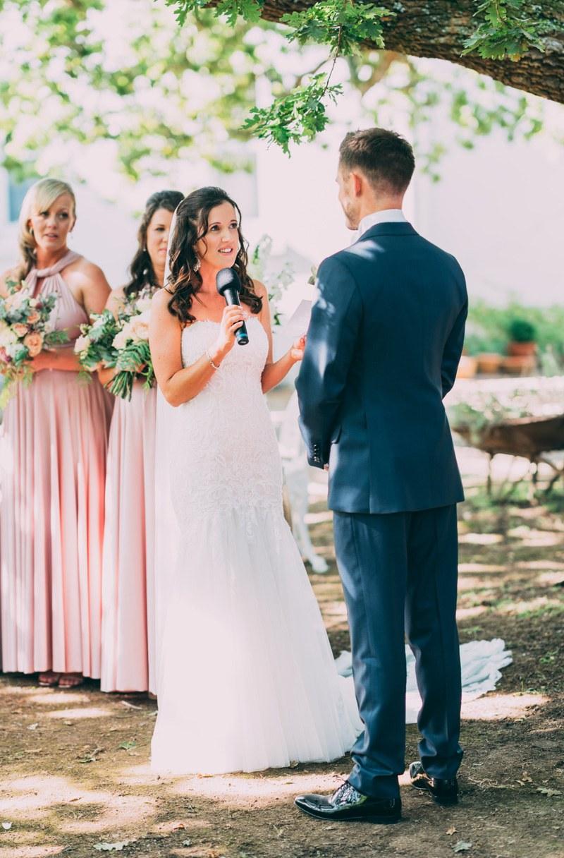 wedding vows in the yarra valley