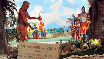 The Fountain of Youth Archaeological Park scene