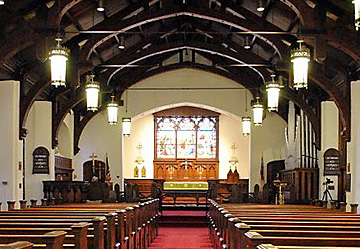 interior of Trinity Episcopal Church
