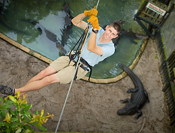 Alligator Zoological Farm zip line