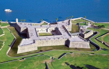 Castillo de San Marcos National Monument aerial view