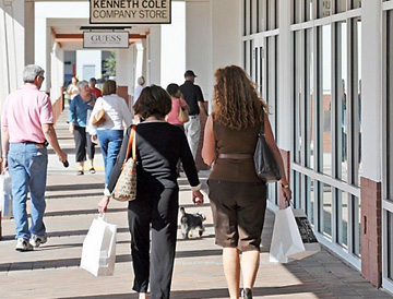Shoppers at Outlet Stores