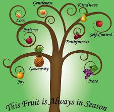Stylized tree showing the Fruit of the Spirit