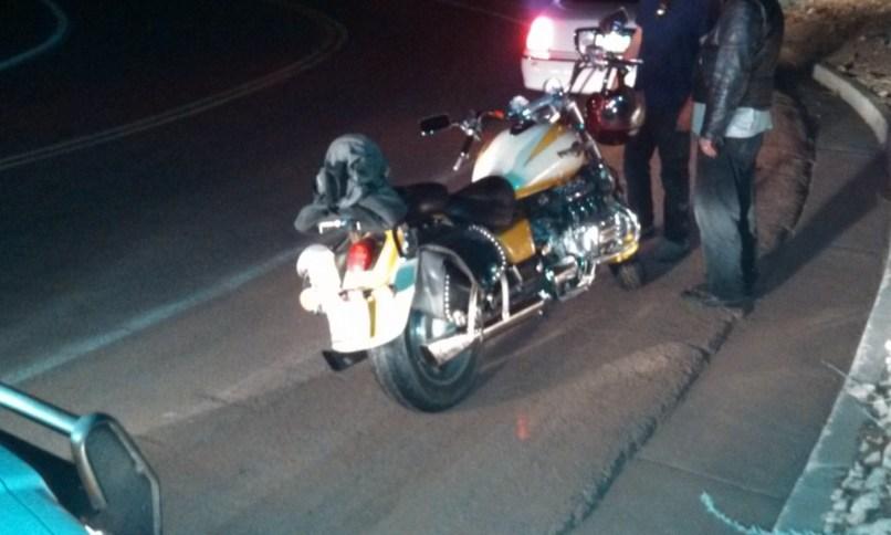 Man Motorcycle Limp Away From Crash