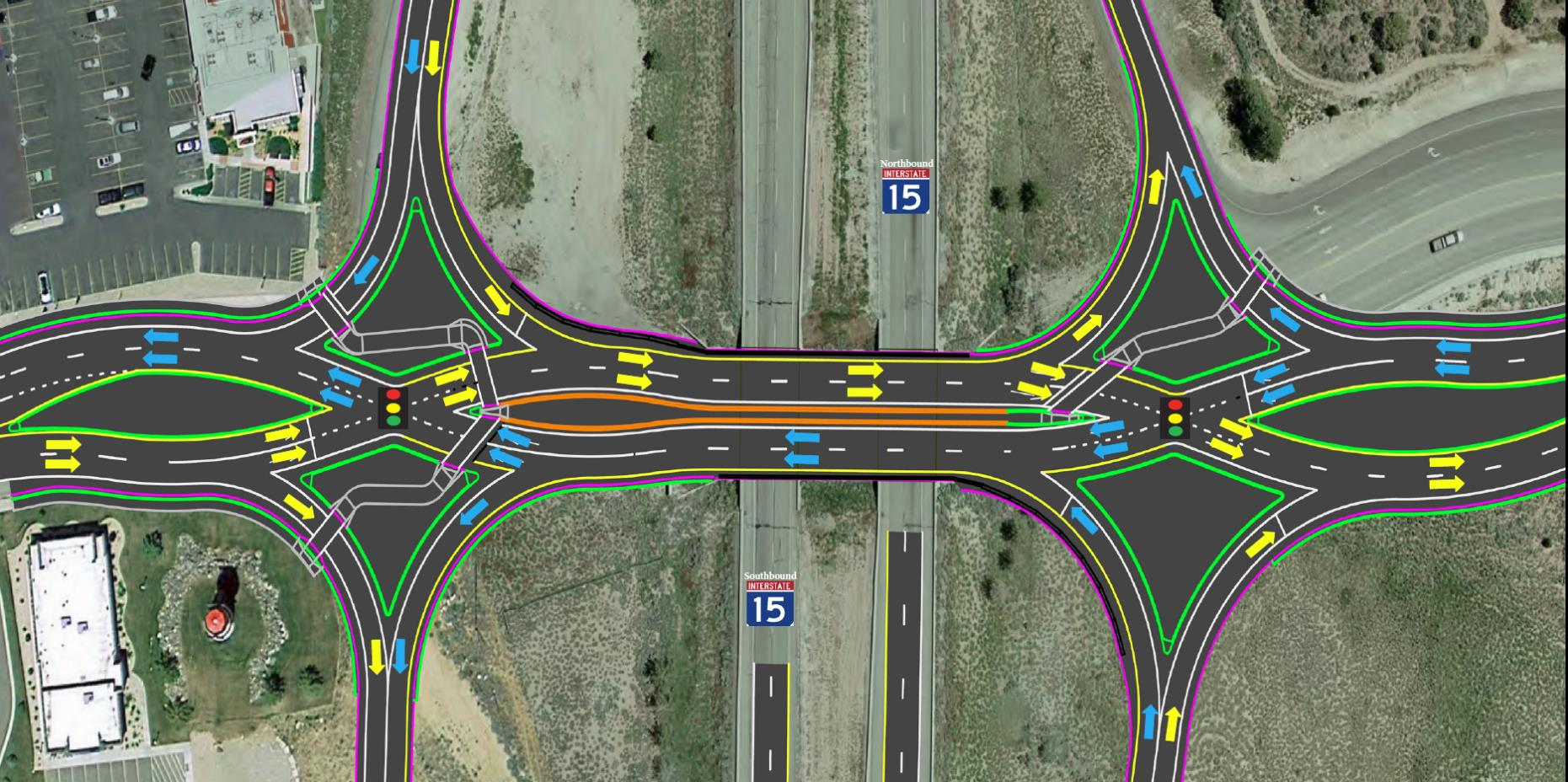 exit ramp traffic diagram human anatomy skin advisory cedar city 57 closure new
