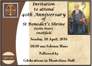 40th Anniversary Celebrations April 2016