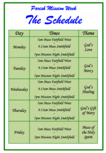 Parish Mission Schedule
