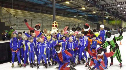 Sinterklaas op de IJsbaan
