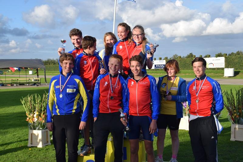 Laatste wedstrijd van de Jan van der Hoorn jeugd Inline-skatecompetie