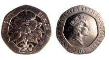 St Helena 20 Pence coin