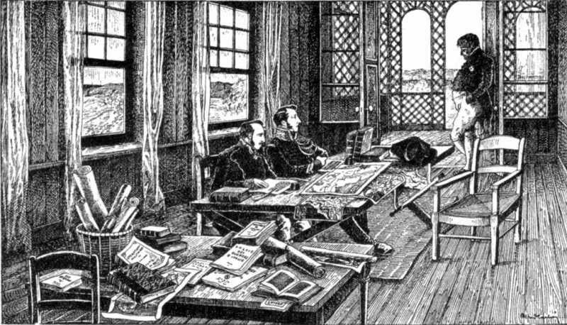 Napoleon dictating his memoirs