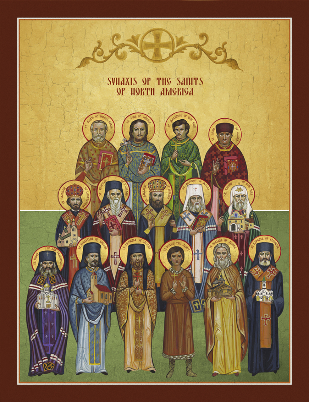 Icon of the Synaxis of the Saints of North America