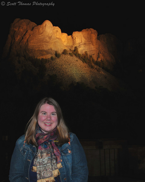A portrait of my daughter at the Mount Rushmore National Memorial near Keystone, South Dakota.