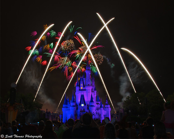 HalloWishes fireworks show at the Magic Kingdom in Walt Disney World, Orlando Florida.